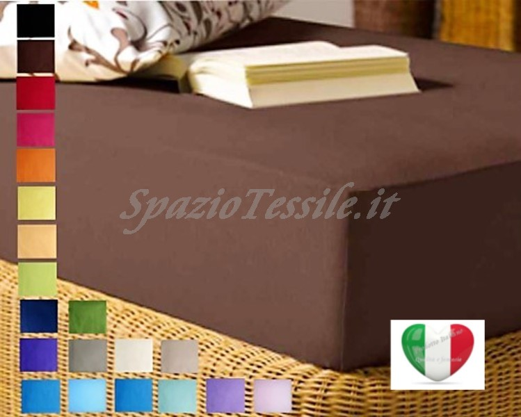 Lenzuolo Sotto Con Angoli 90x200+ H 25 cm Singolo Federe 100% Cotone