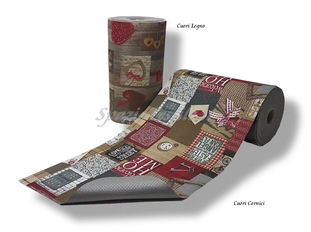 Tappeto gommato multiuso stampato cuori - Tappeti cucina ebay ...