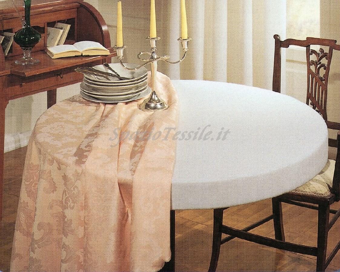 Copritavolo mollettone tavolo bianco in cotone rettangolare - Copritavolo moderno ...