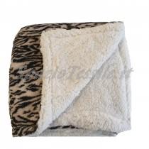 Plaid animalier zebrato marrone