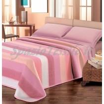 Coperta Misto Lana Fasce colorate rosa