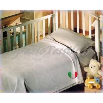 Coperta copriletto baby culla lettino broccato 100% cotone