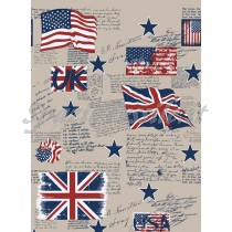 copritutto bandiere UK & USA Flags