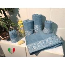 Set Spugne Bagno Roseto Celeste