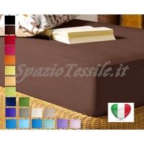 Lenzuolo Sotto Con Angoli 100x200+ H 25 cm Singolo Federe 100% Cotone