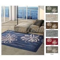 tappeto ciniglia living fiori
