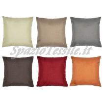 Cuscino arredo tessuto effetto canapa