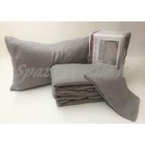 completo lenzuola pile tinta unita grigio