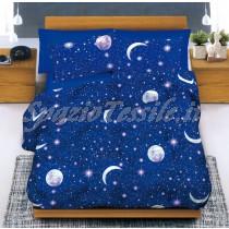 Copriletto Estivo Piquet Disegno Luna