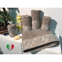 Set Spugne Bagno Roseto Marrone