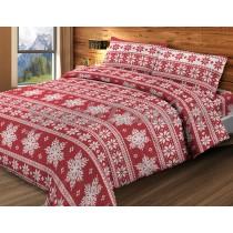 completo lenzuola fiocco di neve rosso