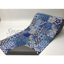 Tappeto Gommato Multiuso mattonella blu