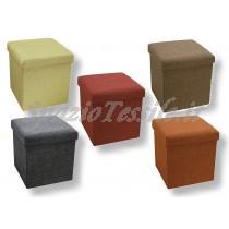 pouff stoffa 38x38x38