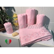 Set Spugne Bagno Roseto Rosa
