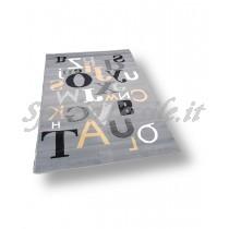 Tappeto moderno scritte grigio