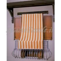 tenda sole riga arancio