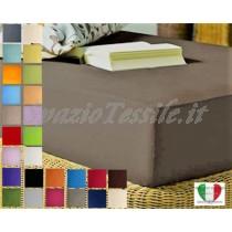 Lenzuolo Sotto Con Angoli 90x200+ H 30 cm Singolo Federe 100% Cotone