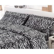 completo lenzuola flanella zebrato