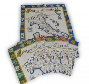 Set 6 Strofinacci Cotone 60 x 80 Disegno Olio