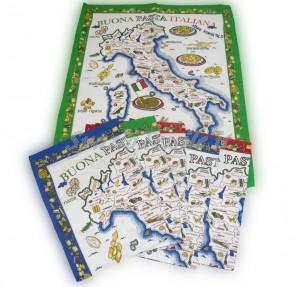 Set 6 Strofinacci Cotone 60 x 80 Disegno Pasta