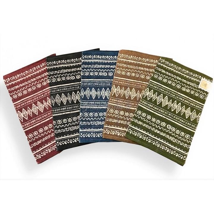 Tappeto Stuoia Cucina Antiscivolo Indiano Etnico 100% Cotone 6 Misure 5 Colori CH